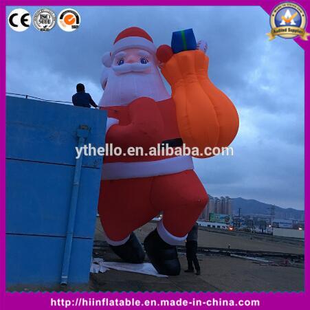 Christmas Decoration Inflatable Santa Claus Hanging Gift for Event Christmas Decoration