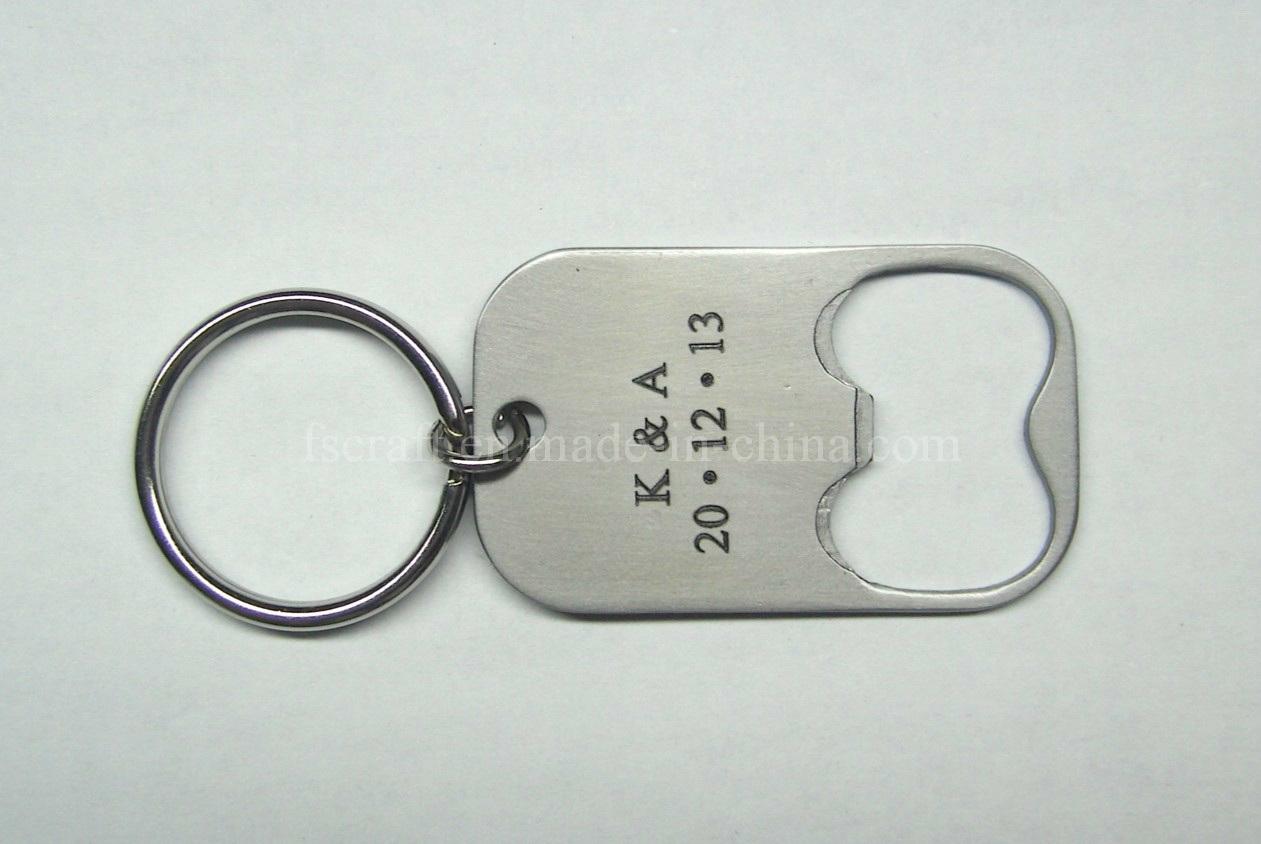 Metal Keychain with Custom Bottle Opener