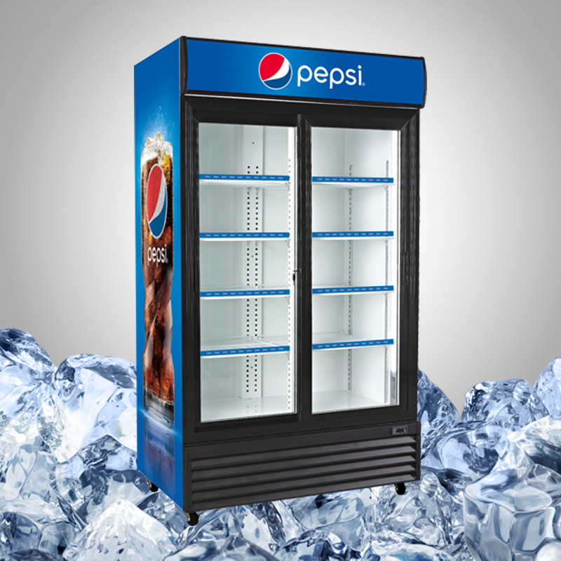 Commercial Glass Door Beverage Display Refrigerator