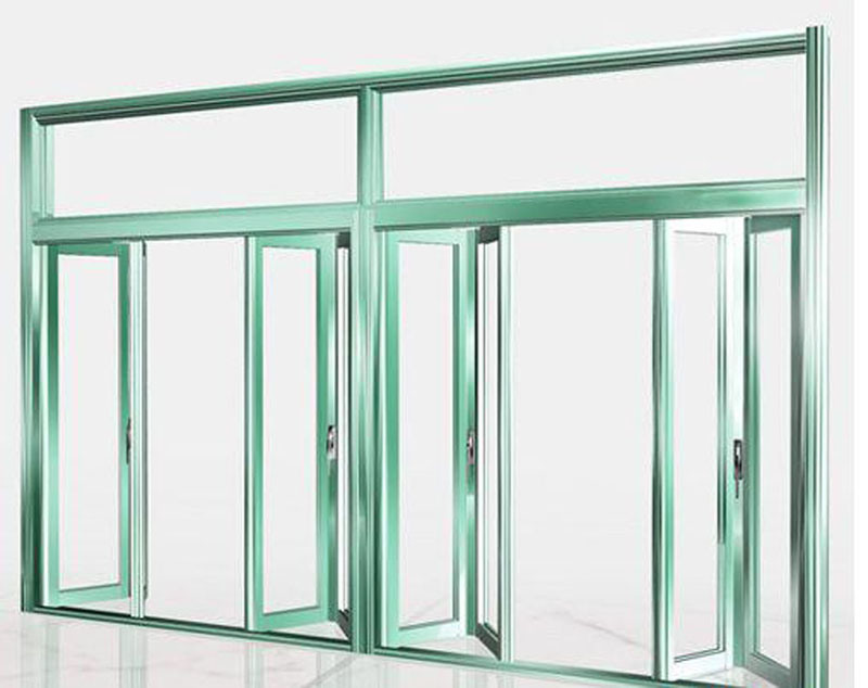 China anodizing silver double glazed aluminium bifold for Aluminium glass windows and doors