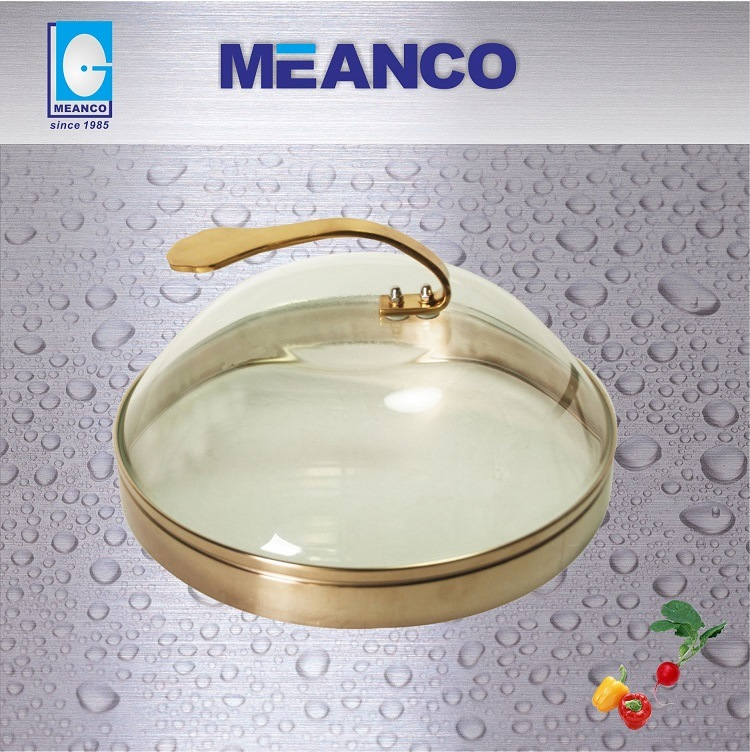 Thermal Shock Resistant 30cm Tempered Glass Teppanyaki Lid