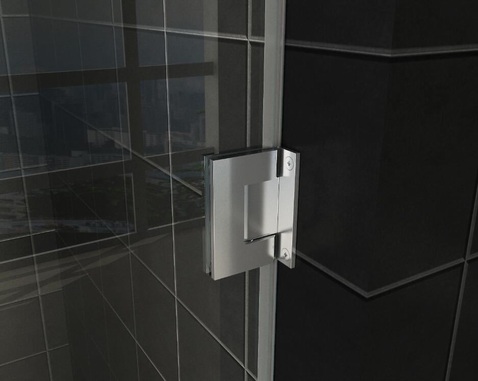 Easy Clean Complete Swing Bath Glass Shower Door Douchedeur