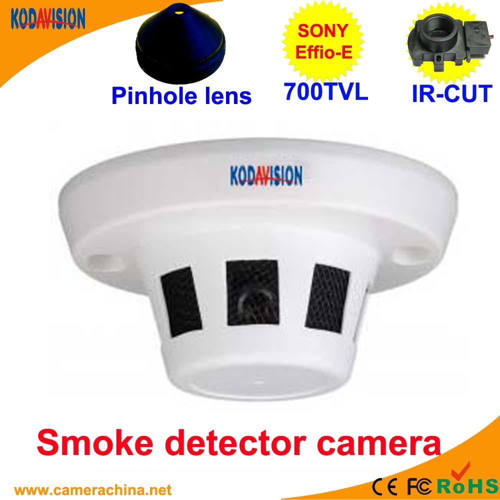 Sony CCD 700tvl Smoke Detector Disguised Hidden Pinhole Miniature Camera