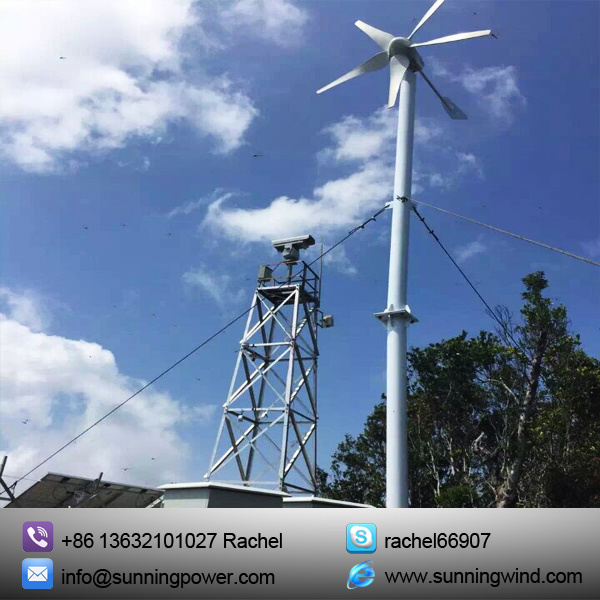 Wind Hybrid Solar Power System for CCTV