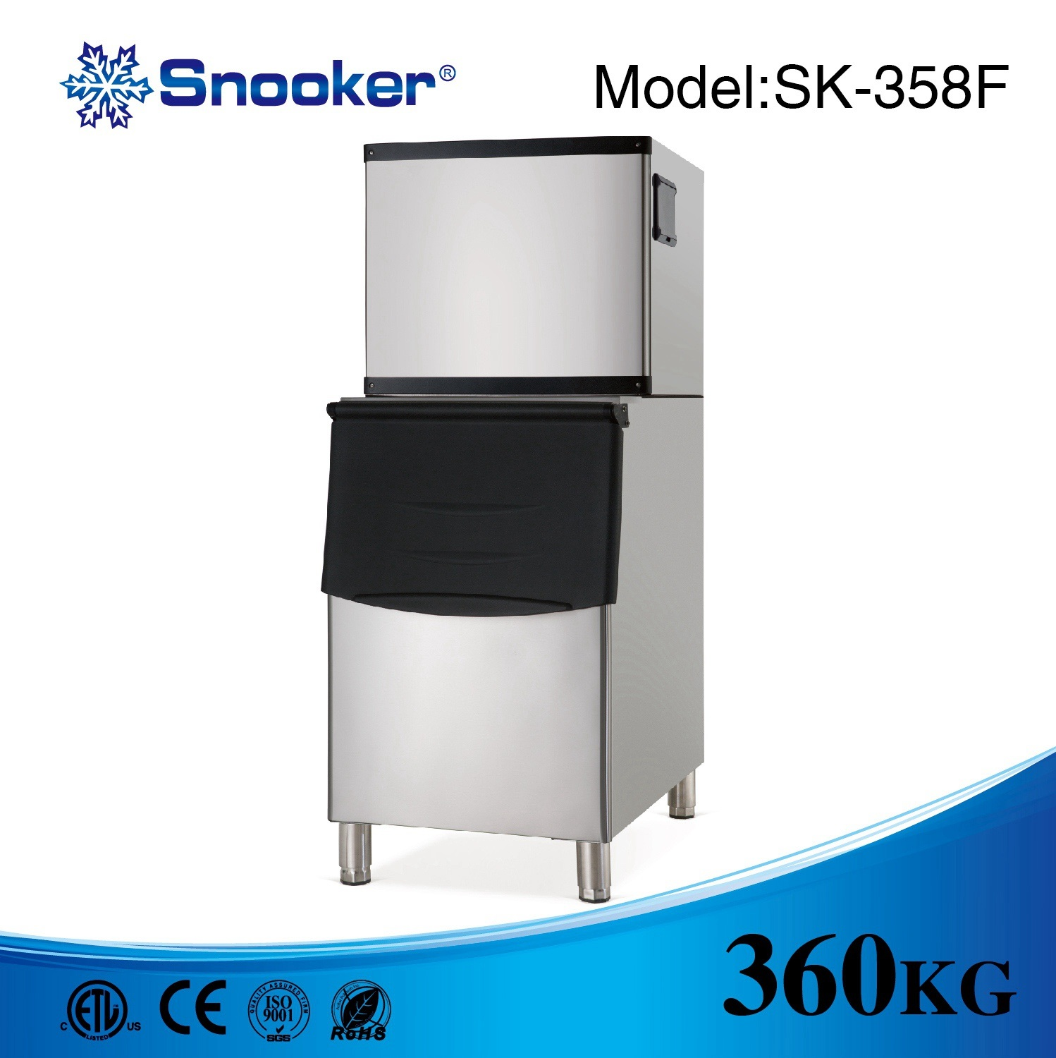 Ce Approved Commercial Use Granular Ice Maker Ice Machine