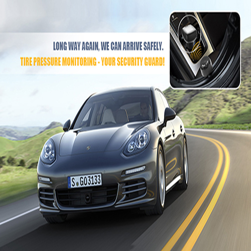 Wireless Tire Pressure Monitoring System with 4PCS External Sensor