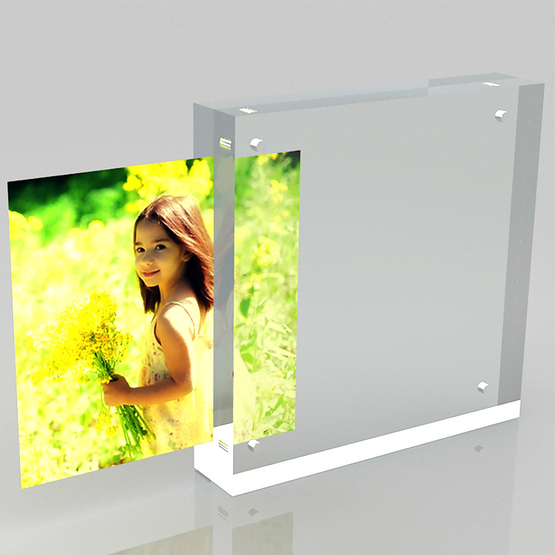 2016 New Style Acrylic Photofunia/Photo Frame, Acrylic Magnetic Photo Frame