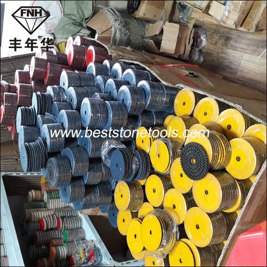Hand Power Concrete Stone Machine Diamond Grinding Polishing Pad