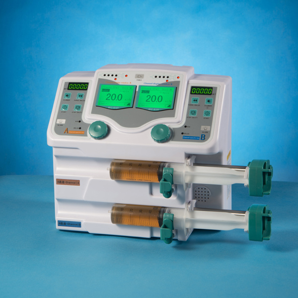Medical Syringe Pump Instrument with Double Channel