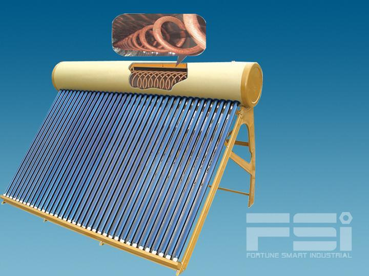 Medium-Pressurized Coiling Copper Finned Tube Solar Water Heater 803