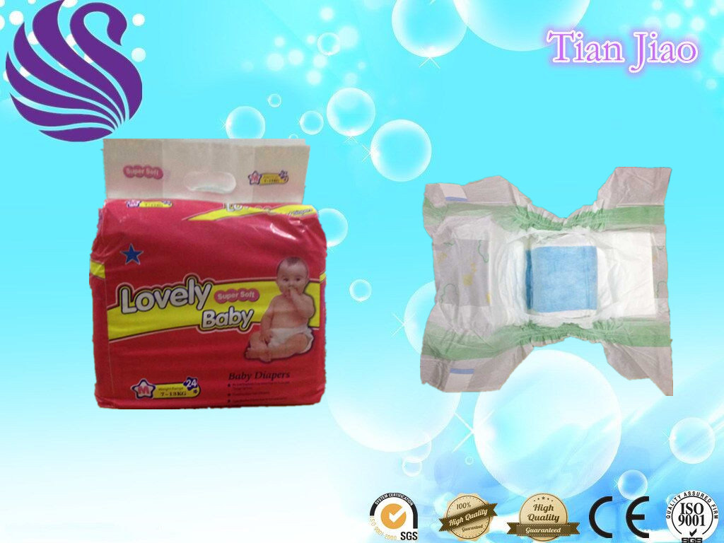 Chinese Cute Baby Diapers in Bales with Cloth-Like Film