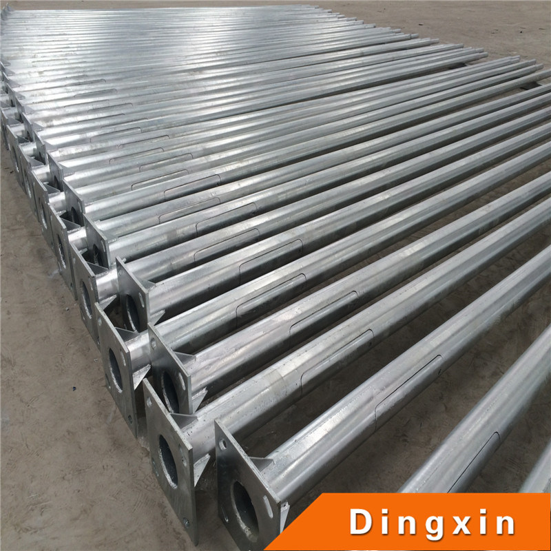 Hot Deep Galvanized Round and Conical Street Lighting Pole