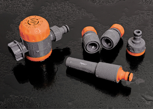 "Garden Hose Fittings 3/4""-1"" ABS Plastic Adjustable Spray Nozzle Hose Nozzle"