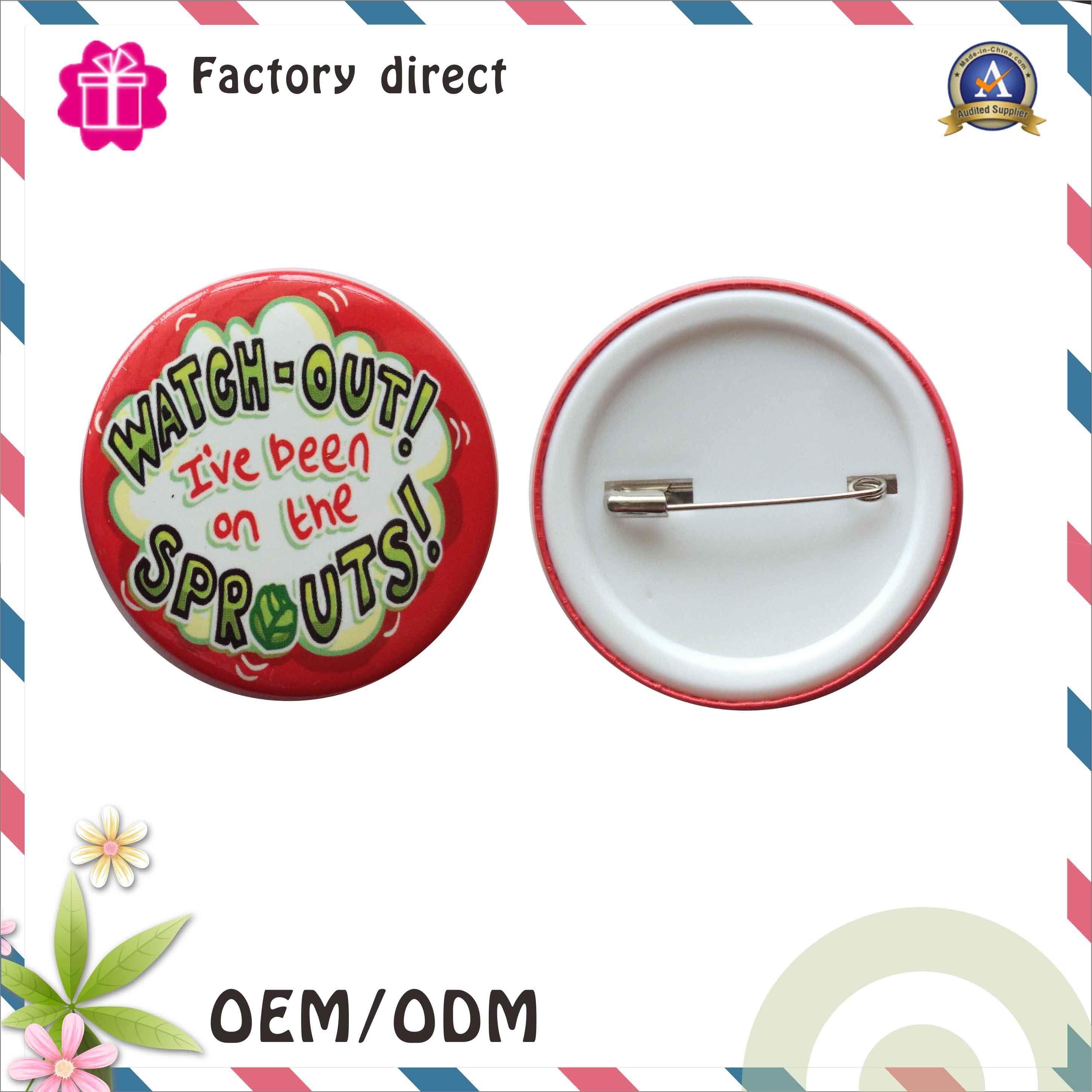 Custom School Cartoon Pin Button Badge