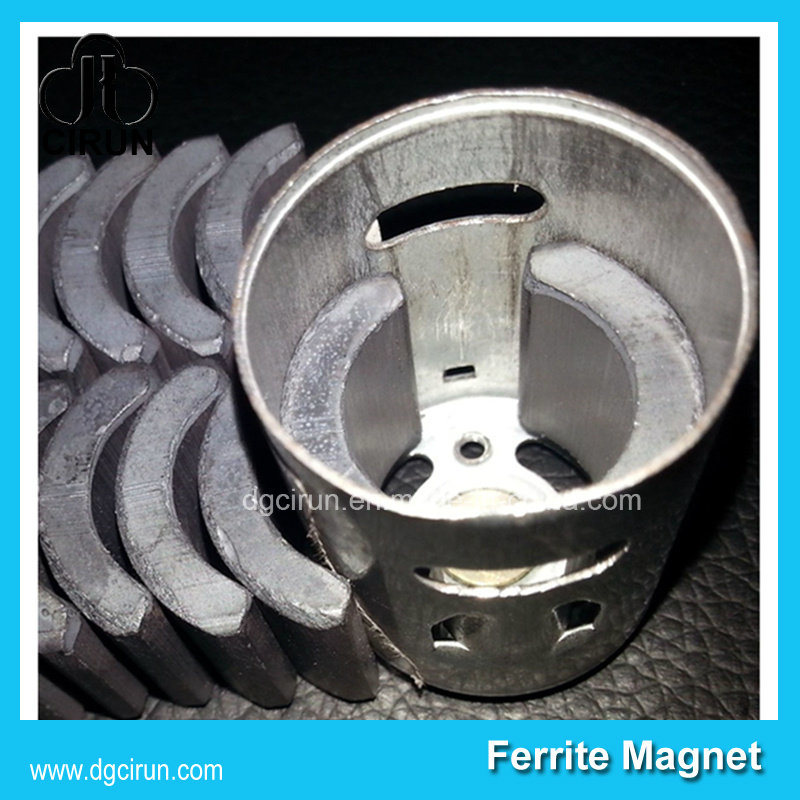Custom Arc Shape Ceramic Ferrite Motor Magnets Free Energy