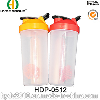 600ml Blender Shaker Bottle with Pill Boxes (HDP-0512)