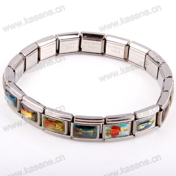 Metal Watch Chain, Alloy Saint Rosary Bracelet