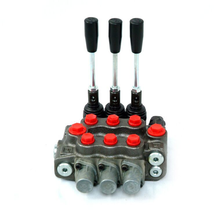 China Hot Sale 80L/Min Hydraulic Directional Control Monoblock Spool Valve