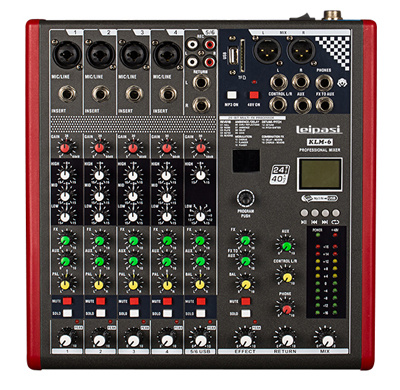 Professional Audio 3EQ 6 Channel MP3 Audio Mixer Klm6