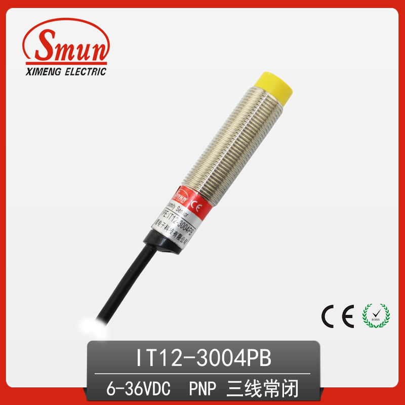 Inductive Proximity Switch 6-36VDC Three-Wires DC PNP Normally Close Sensor with 4mm Detection Distance