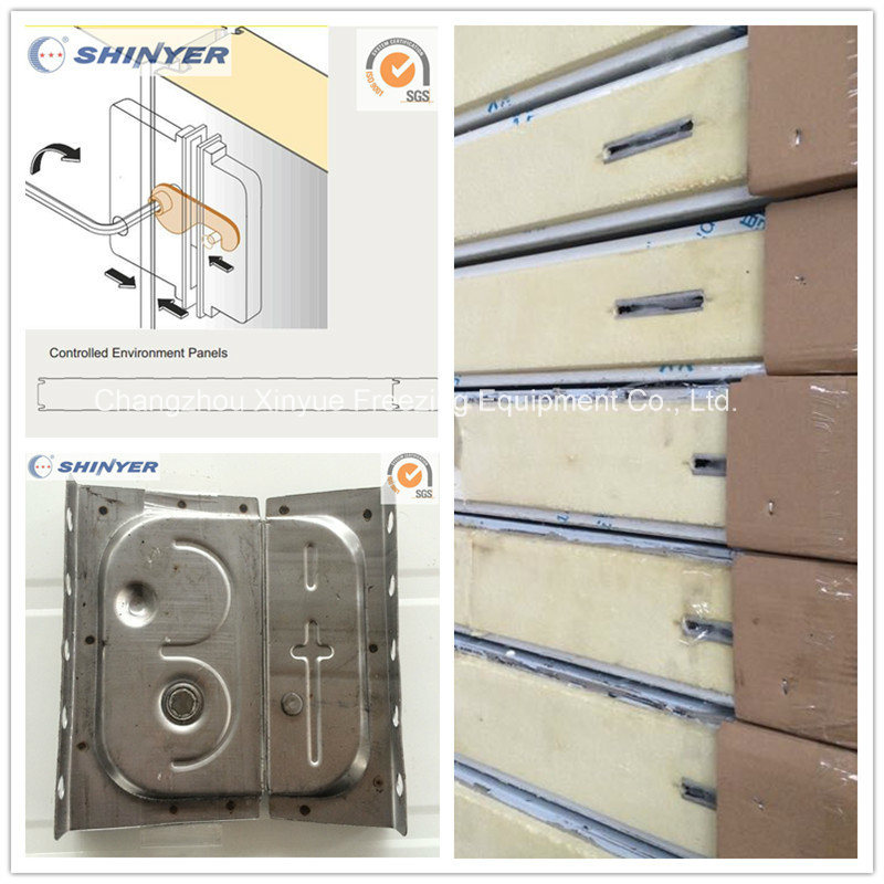 100mm Camlock Polyurethane PU Sandwich Panel with Color Steel Plate