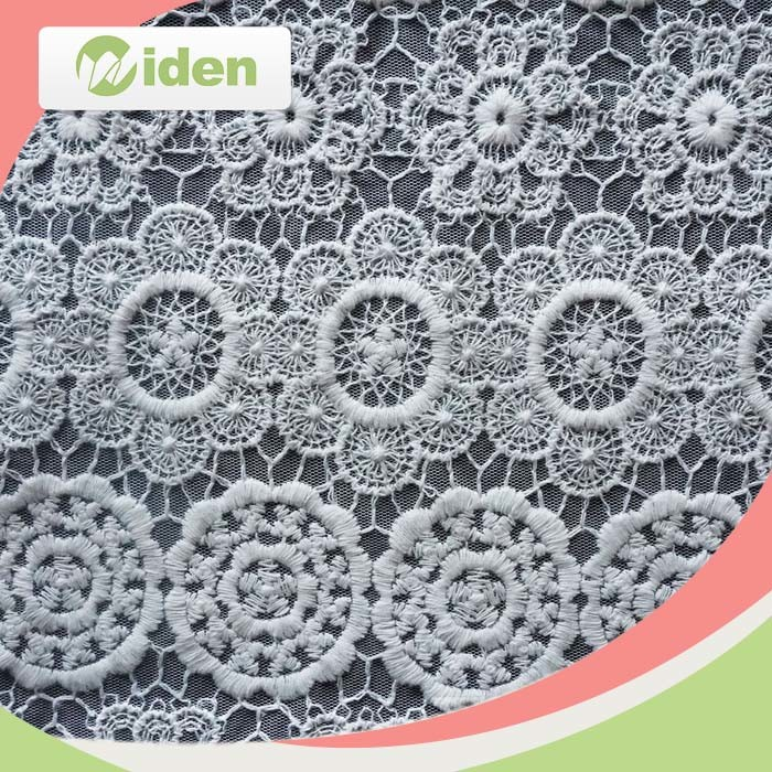 2016 Fabric Flower Pattern African Swiss Lace Nylon Embroidery French