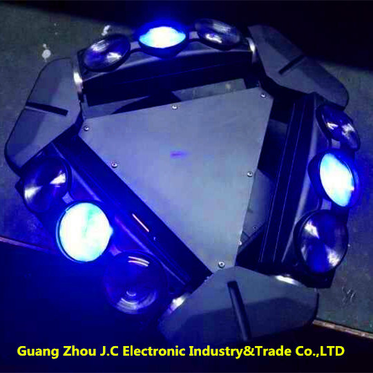 9PCS *12W RGBW 4 In1 LED Full Color Infinite Spider Moving Head Light