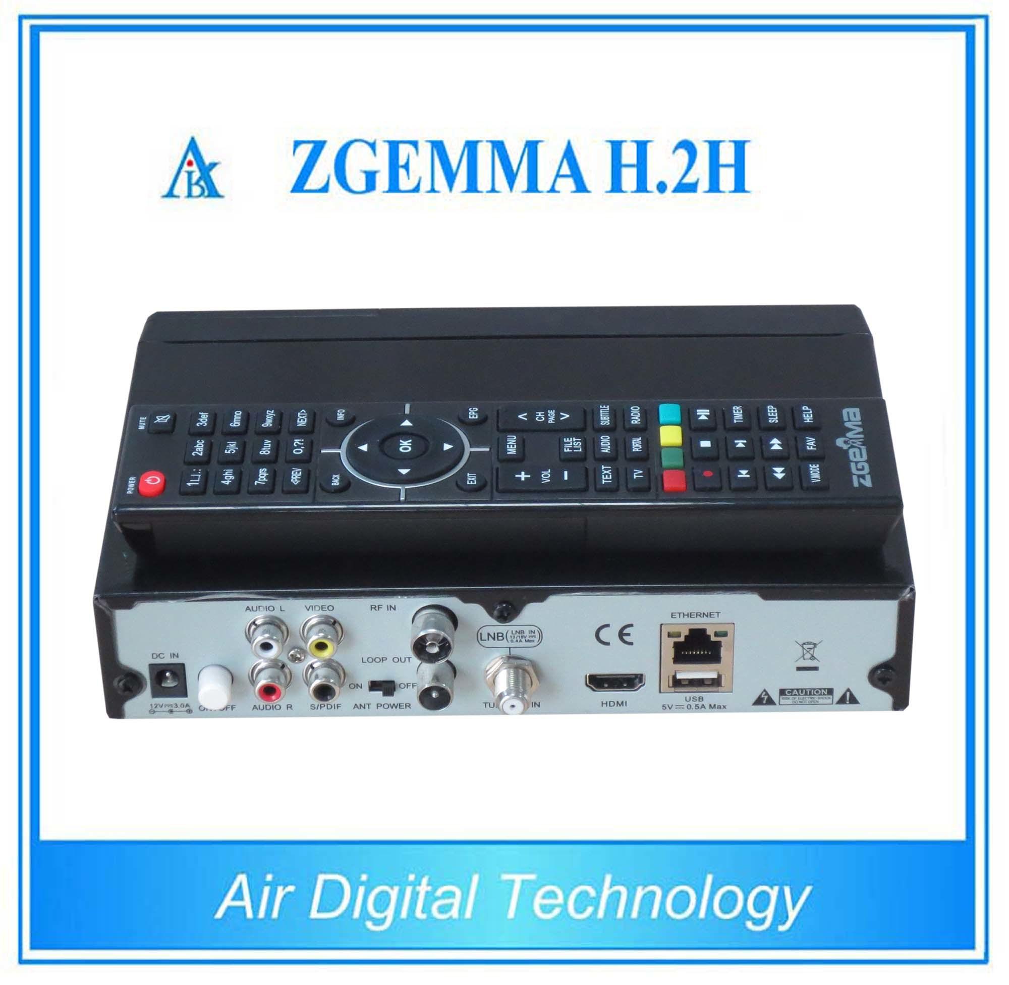 Digital Satellite Receiver DVB S2 + DVB T2 Satellite & Terrestrial Receiver with Dual Core CPU Zgemma H. 2h