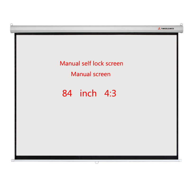 Manual Projection Screen 84 Inch 4: 3 Projection Screens