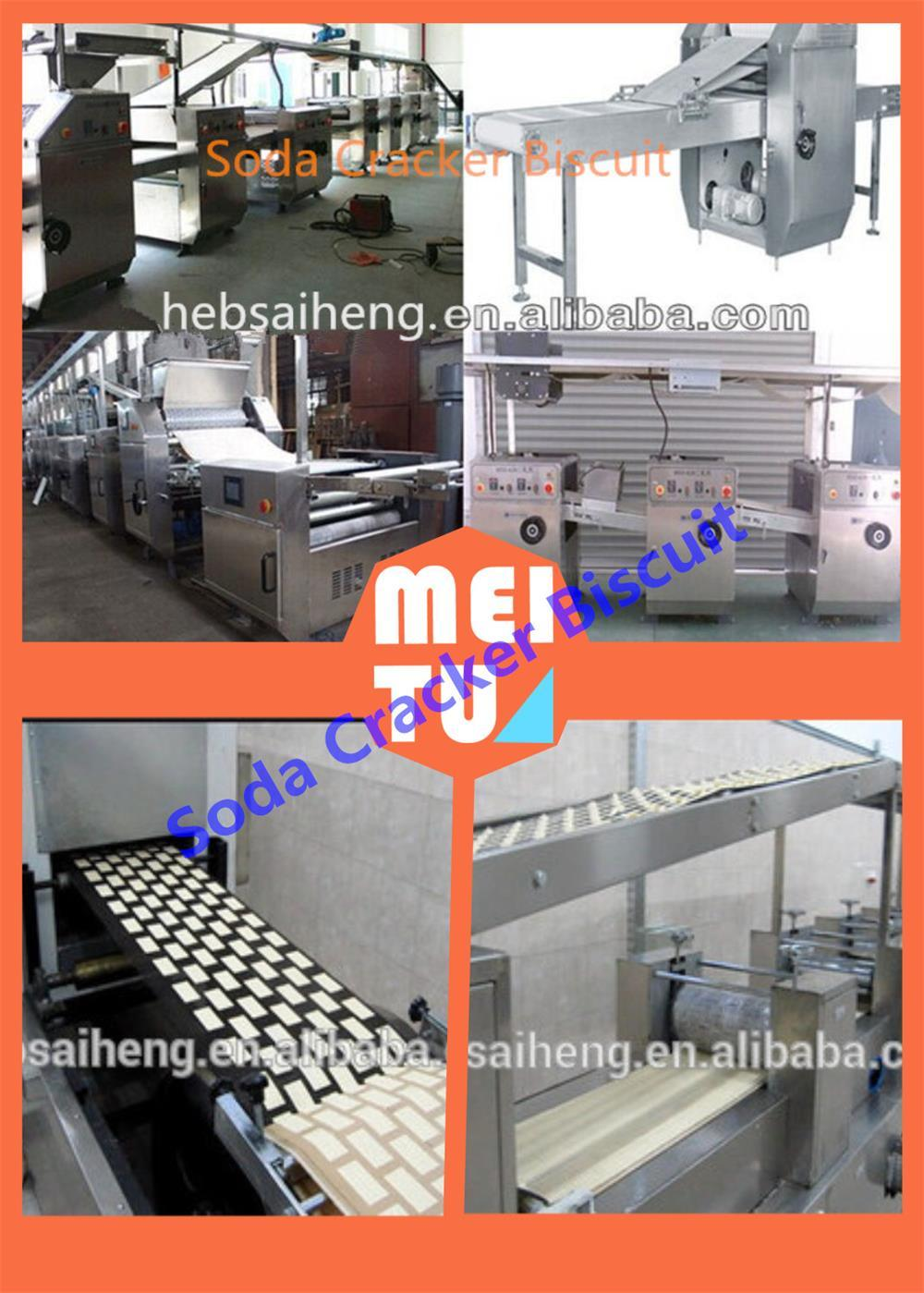 2015 Sh 750kg/H Hot Sale Large Capacity Full-Automatic Soda Cracker Biscuit Production Line