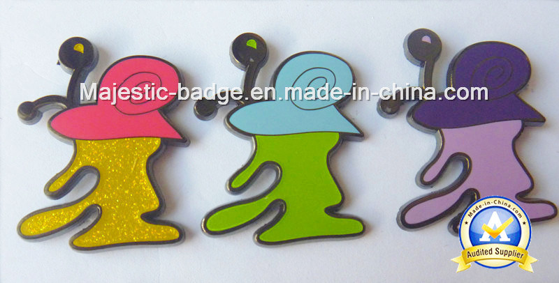 Cute Zinc Die Cast Hard Enamel Glitter Pins