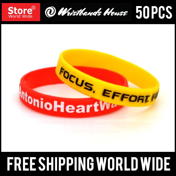 Emboss Printed Custom Silicone Wristbands