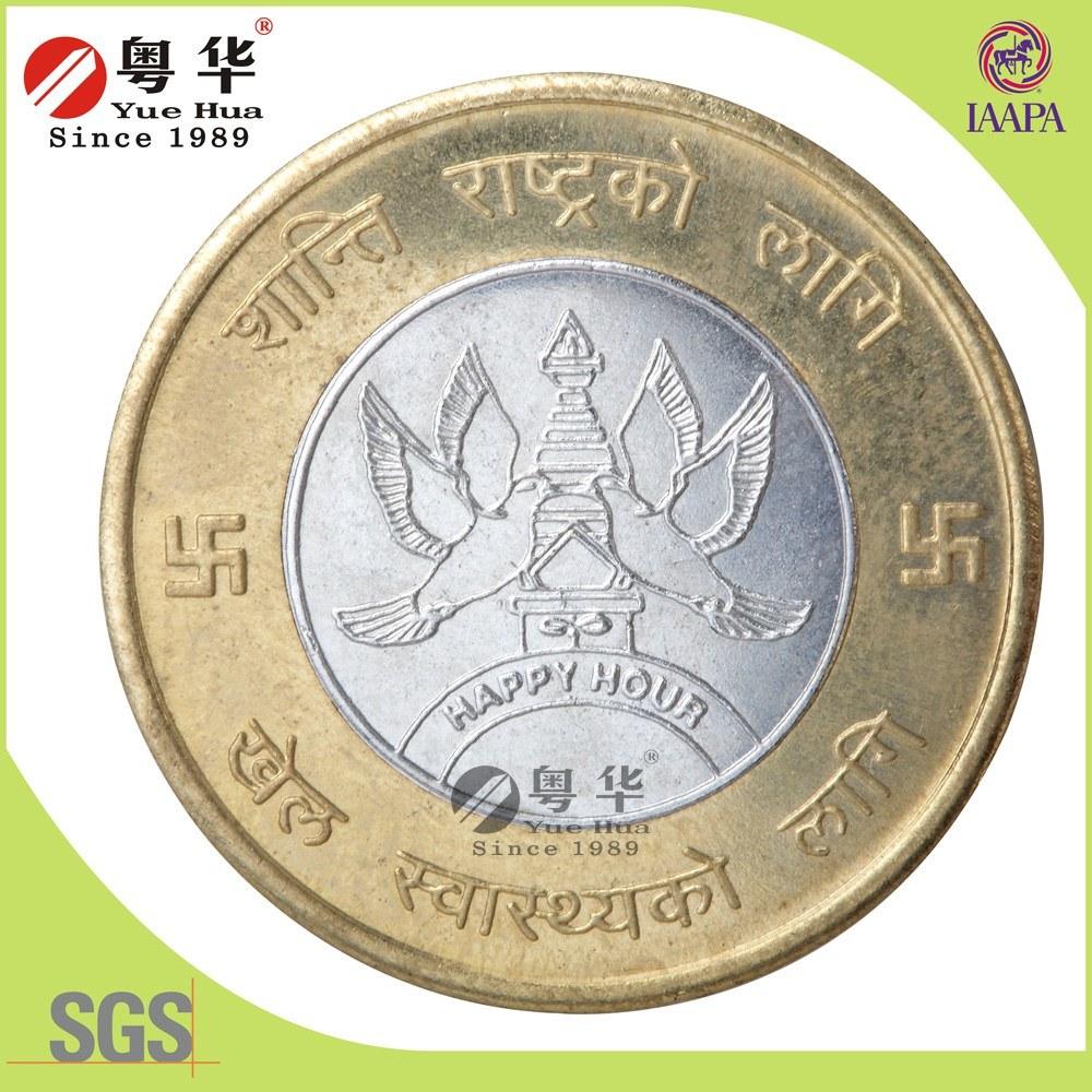 Wholesale Custom Market 2 Color Brass Token Coin