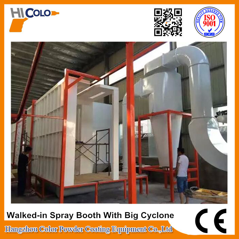 Multi-Automatic Walked-in Powder Spray Booth with Cylcone Recovey System
