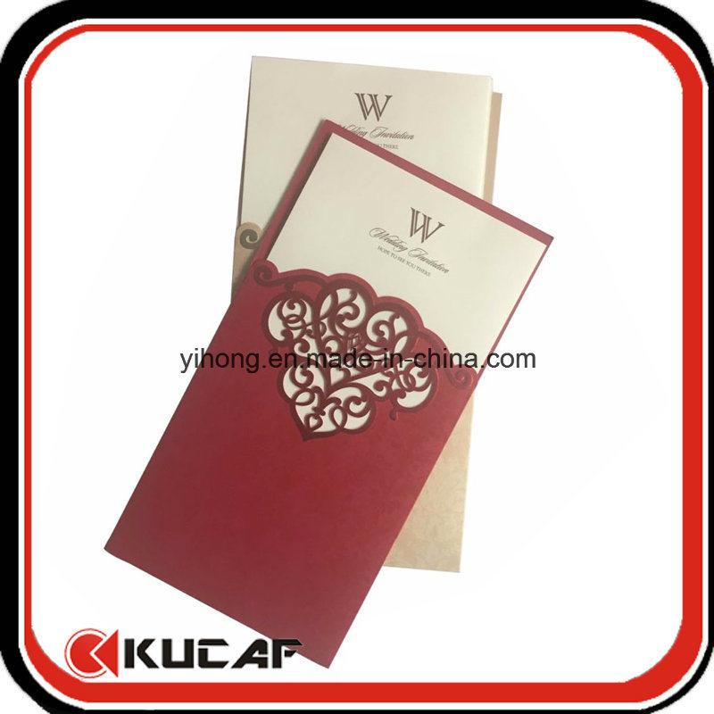 Custom Printing Luxury Wedding Card Laser Cut Invitation Card