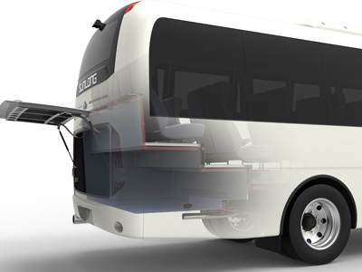 Sunlong Slk6750AC Diesel Mini Passenger Bus