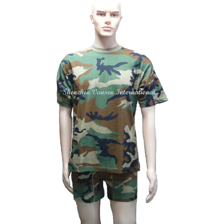 Military Short Training Suit in Camouflage (V3006)