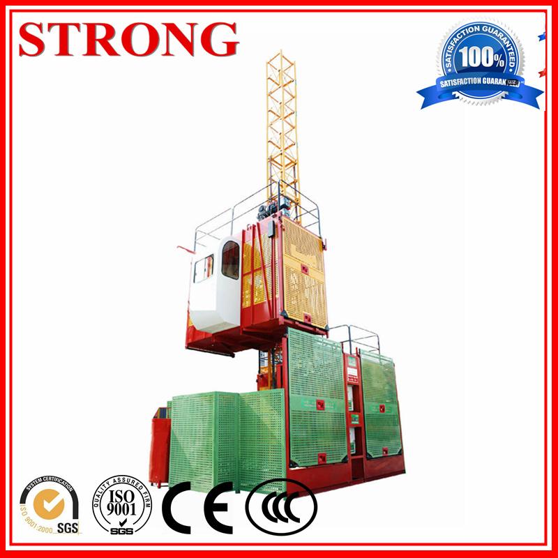 Building Construction Hoist Sc200/200, Electric Hoist, Electric Motor with Double Cage