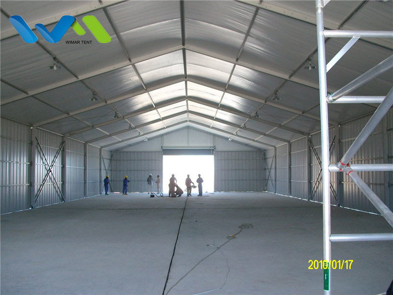 10X30m Aluminum Structure Warehouse Storage Tent with Steel Metal Wall and Shutter Door