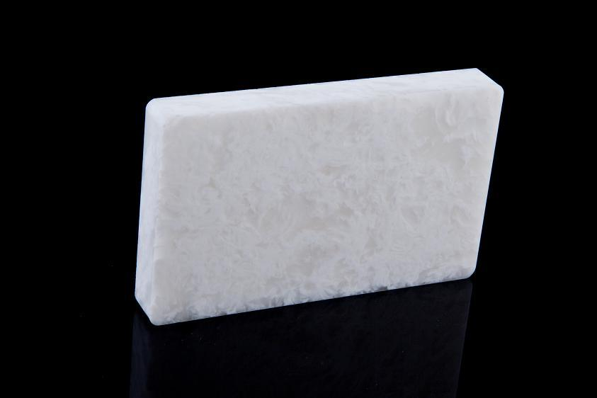 Translucent White Acrylic Nature Texture Quartz Stone for Wall Decoration