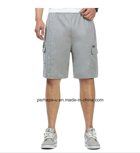 High Quality Cotton Casual Pants Mens Shorts Middle Trousers