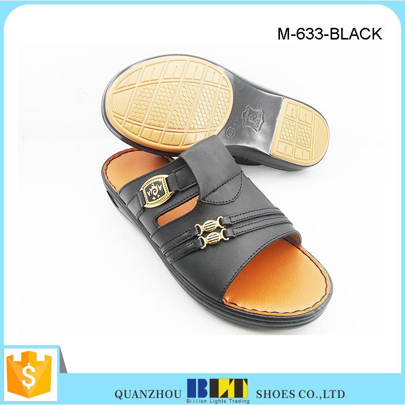 Hot Sale Men Fashion PU Upper Arabia Slippers