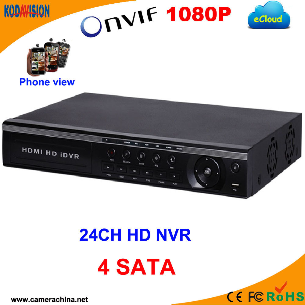 24 Channel H. 264 Standalone 1080P Digital NVR Recorder