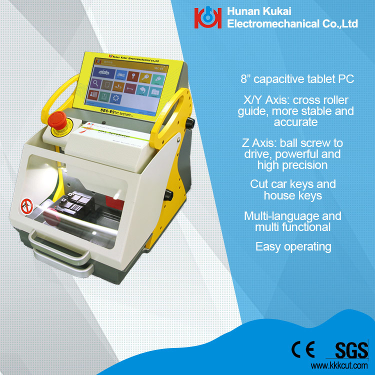 Locksmith Tool Sec-E9 Key Cutting Machine Multiple Languages Version Built in Database