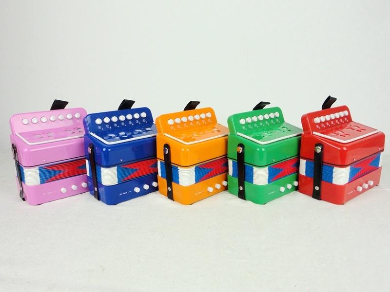Sinomusik Colour 7-Button Accordion for Kids