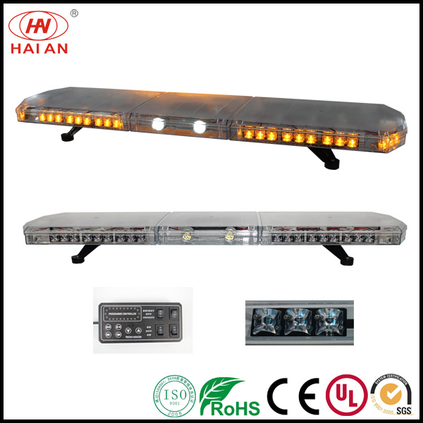 Newest Lightbar for Safety Vehicles Amber Dome Take Down Light Safety Vehicles LED Lightbar Ambulance/Fire Engine/ Use The Police Car to Open up The Road