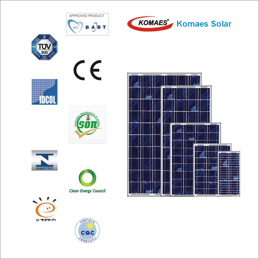 260W PV Panel Solar Panel Home Solar System with TUV IEC Mcs CE Inmetro Idcol Soncap Certificate