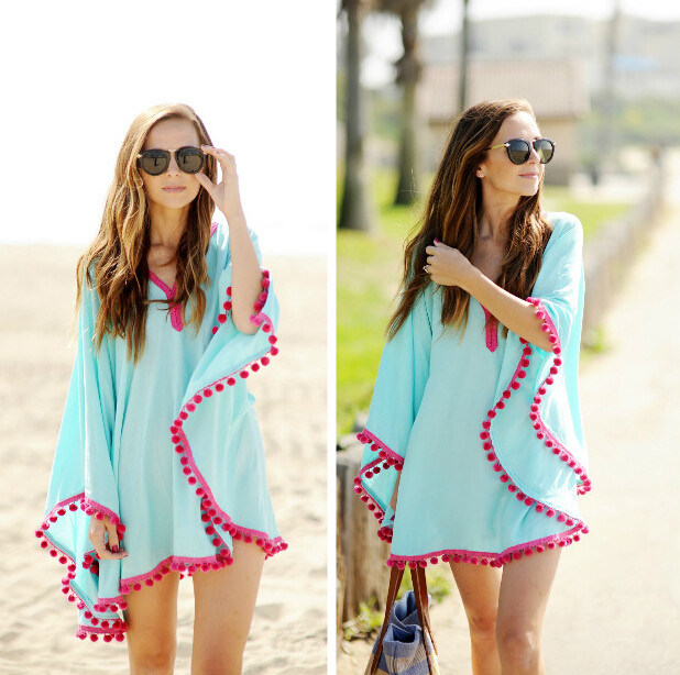 Fast Delivery Hot Sale Fashion Loose Plus Size Beach Wrap (50156)