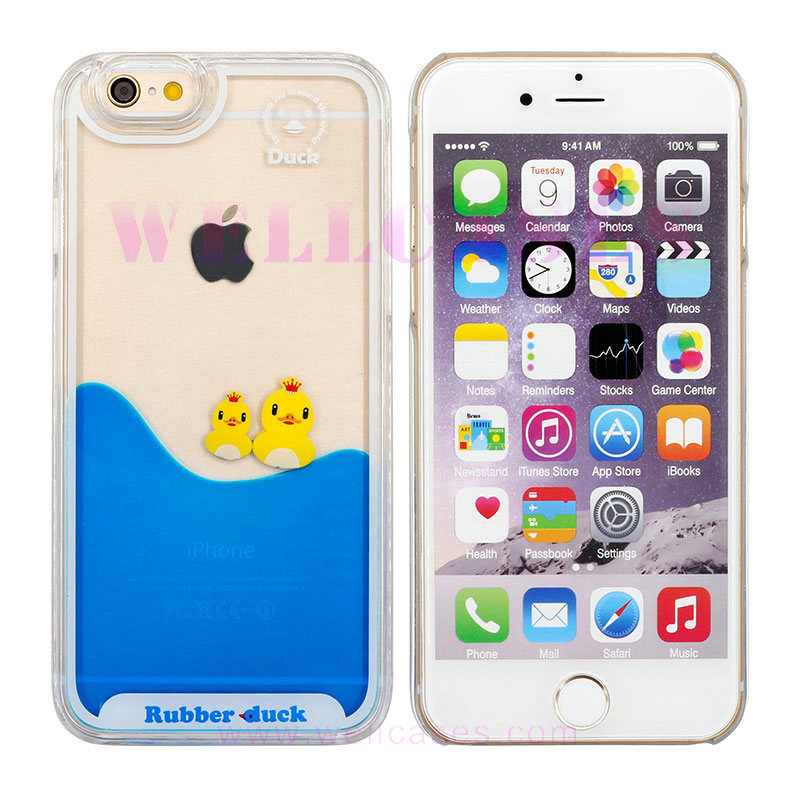 Yellow Duck Oil Dripping Mobile Phone Case for Samsung/iPhone