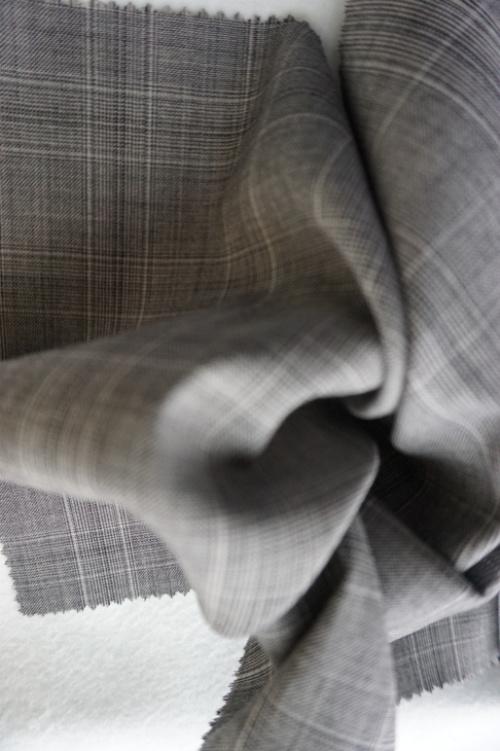 Check Tweed Wool Fabric of 100% Wool
